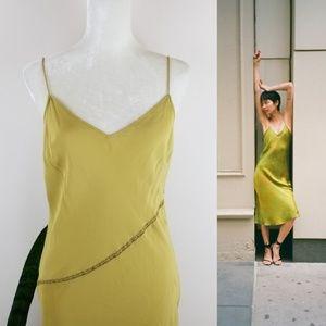 VTG 90's J. Crew Silk Slip Dress